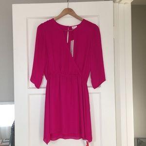 Parker Magenta Silk Dress